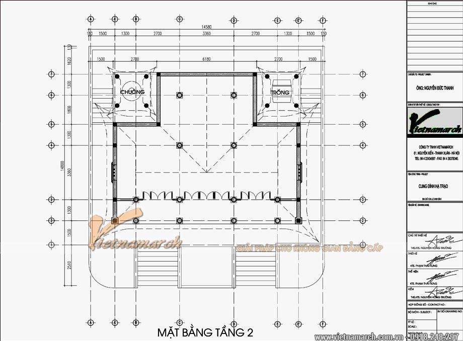 thiết kế Cung đình Hạ Trạo 300m2