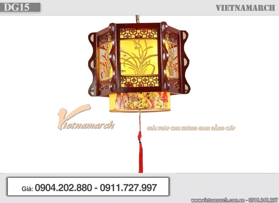 Mẫu đèn gỗ phòng thờ