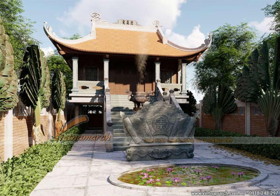 Mẫu thiết kế nhà từ đường tại Hoài Đức Hà Nội