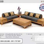 Combo mẫu ghế sofa đẹp kèm bàn trà hiện đại có ngăn kéo được ưa chuộng nhất – SFG21
