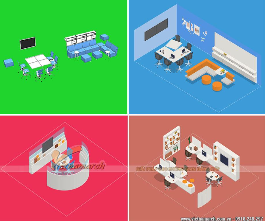 Thiết kế không gian làm việc nhóm hiệu quả