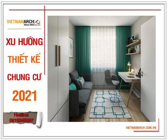 Xu hướng thiết kế nội thất chung cư 2021