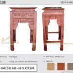 Mẫu ban thờ gỗ hương đá đẹp chuẩn lỗ ban cho khách hàng tại Quảng Nam BTD31