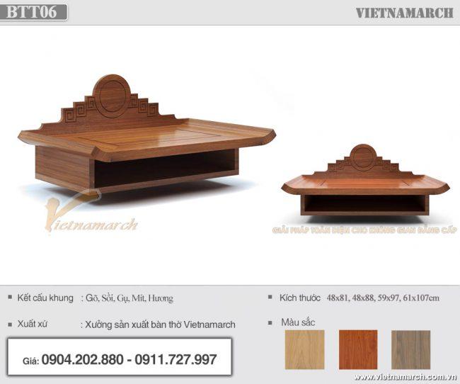 Bàn thờ Phật treo tường gỗ gõ
