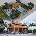 Chiêm ngưỡng mẫu nhà thờ họ Lê Văn 8 mái truyền thống thiết kế liên hoàn khép kín