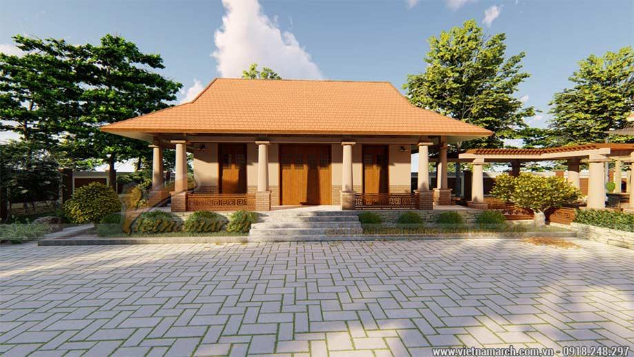 Mẫu nhà thờ họ mang phong cách nhà vườn đẹp