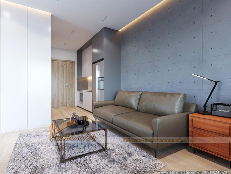 Mẫu thiết kế căn hộ studio 33,5m2 tòa Vinhomes Ocean Park Gia Lâm