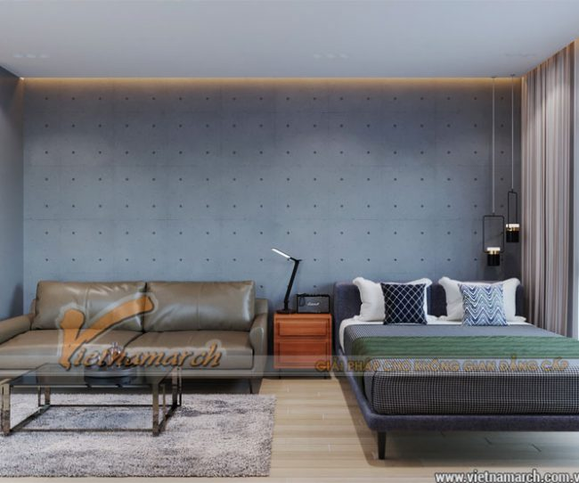 Mẫu thiết kế căn hộ studio 33,5m2 tòa Vinhomes Ocean Park