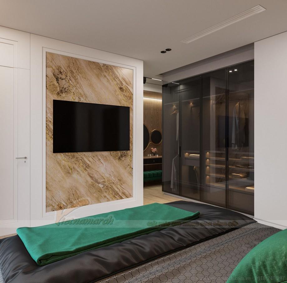 Thiết kế nội thất phòng ngủ căn hộ chung cư Starlake Tây Hồ