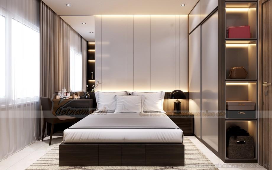 Mẫu nội thất chung cư 2 phòng ngủ sang trọng và hiện đại tại Vinhomes Smart City