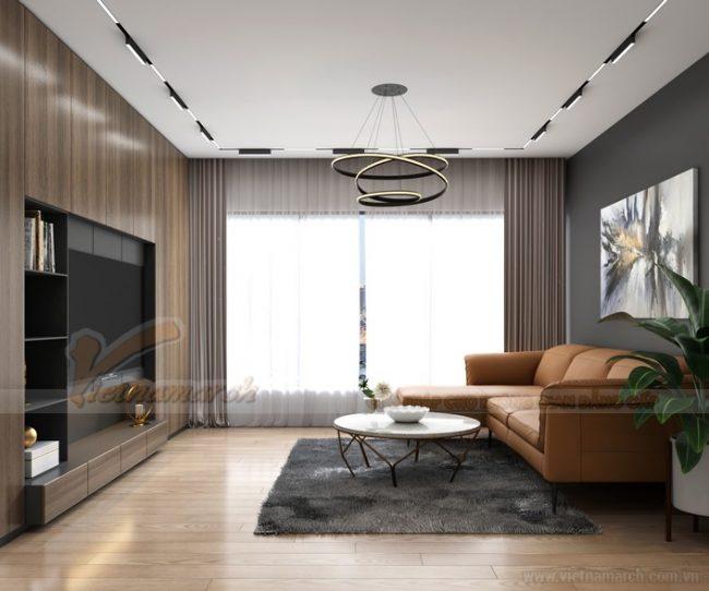 Nội thất phòng khách căn hộ điển hình A 2 phòng ngủ Starlake Tây Hồ - Nhà chị Hạnh