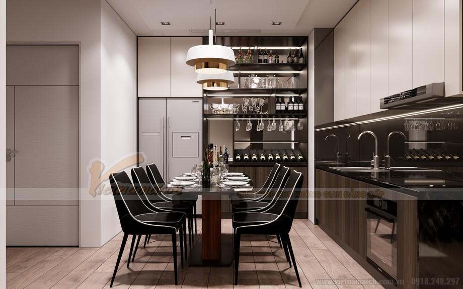 Thiết kế phòng ăn chung cư tháp Doanh Nhân