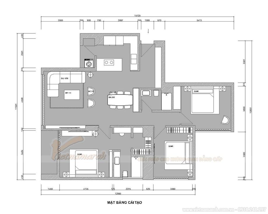 Thiết kế nội thất chung cư 3 ngủ Starlake Tây Hồ - Loại G