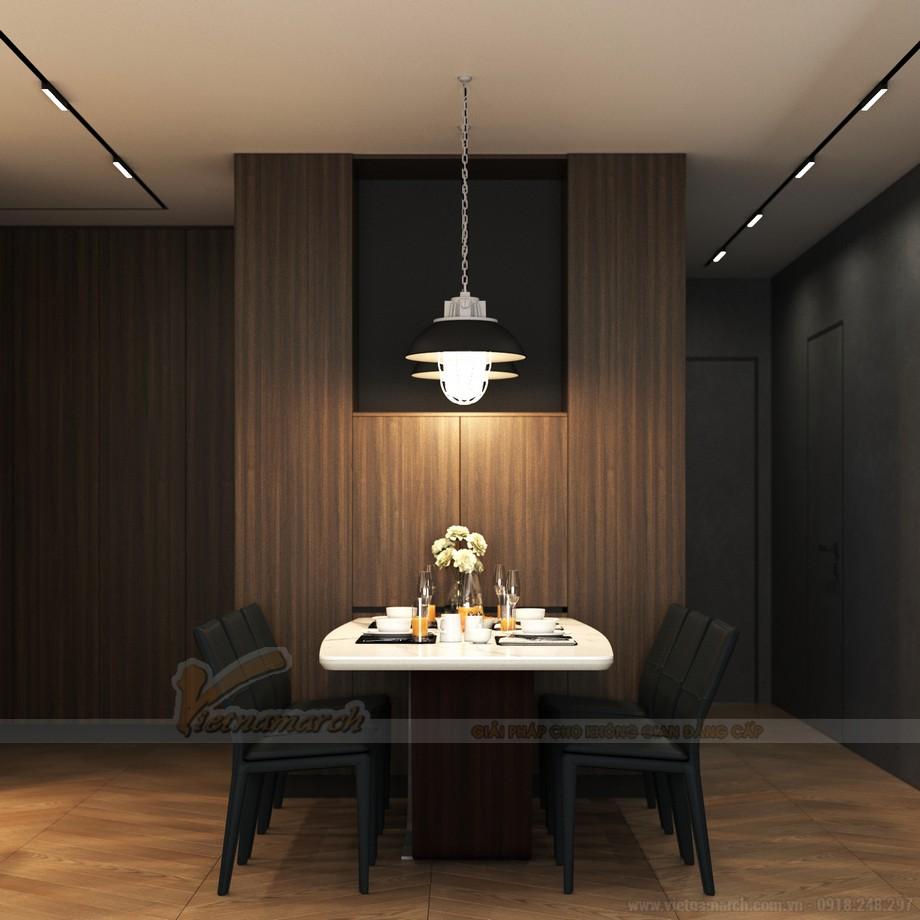 Thiết kế nội thất phòng bếp căn hộ 3 phòng ngủ tại Starlake Tây Hồ