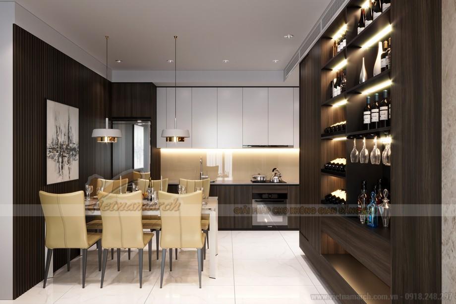 Thiết kế khu vực bếp và phòng ăn cho căn hộ chung cư 3 phòng ngủ