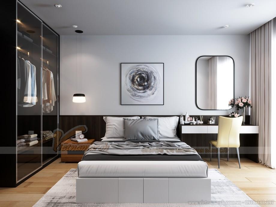 Thiết kế phòng ngủ căn hộ chung cư Tháp doanh nhân