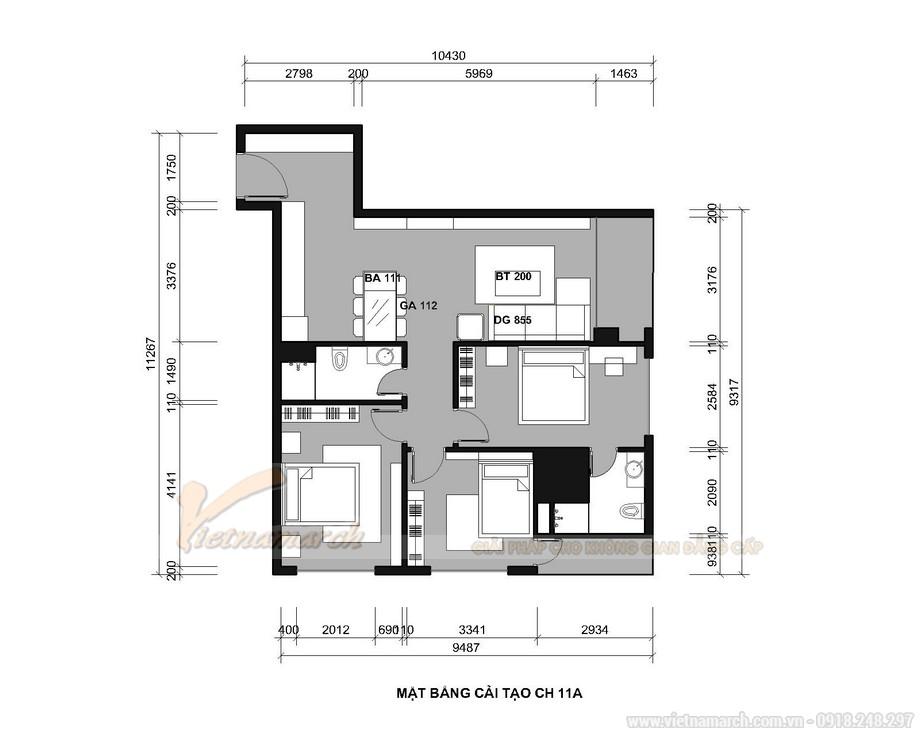 Hình ảnh thi công thực tế nội thất căn hộ 3 phòng ngủ Tháp Doanh Nhân – Hà Đông