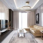 Thiết kế phòng khách căn hộ 3 ngủ Tháp doanh nhân