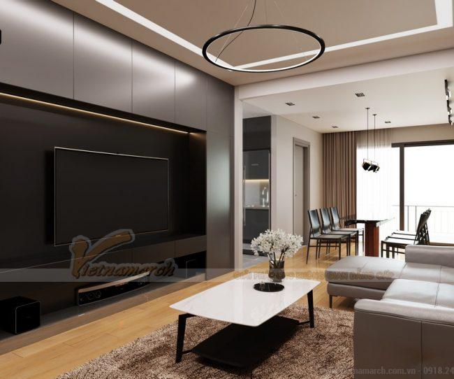 Thiết kế nội thất phòng khách căn hộ The Legacy