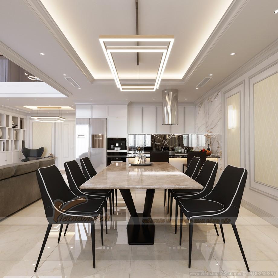 Thiết kế phòng bếp ăn của căn hộ dự án Five Star West Lake