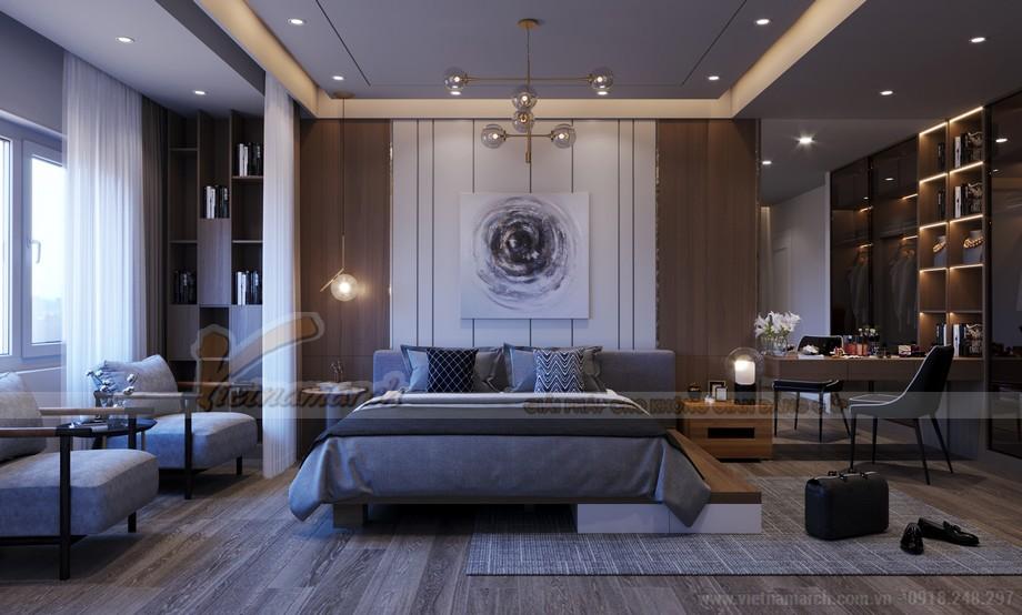 Thiết kế phòng ngủ của căn hộ dự án Five Star West Lake