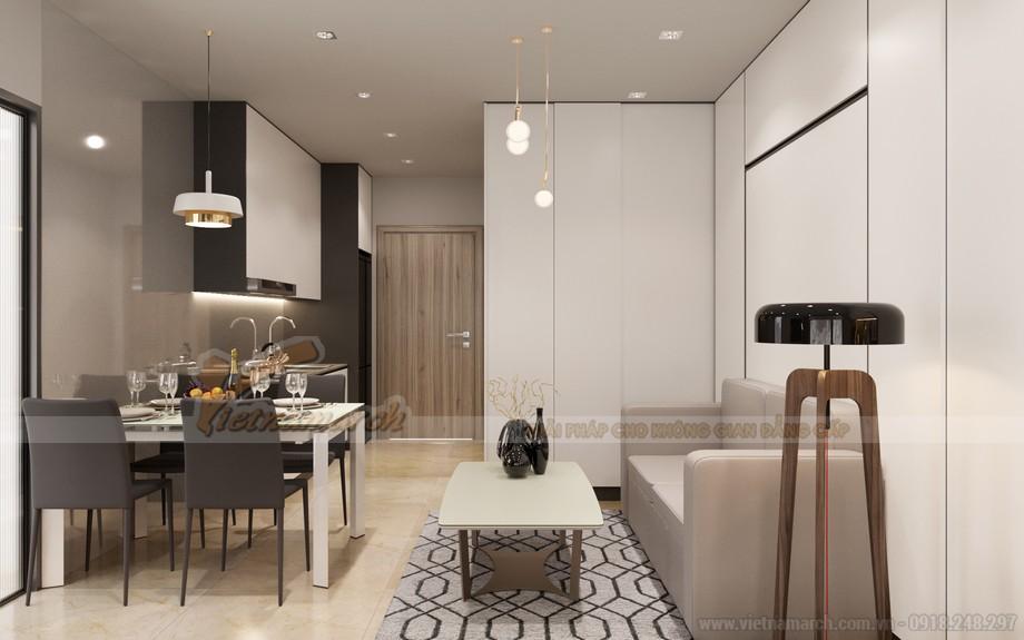 Thiết kế nội thất căn hộ Studio Vinhomes Smart City Tây Mỗ