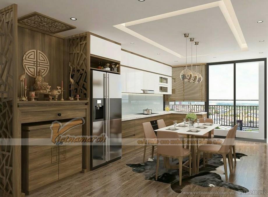 Trần thạch cao giật 2 cấp phòng bếp chung cư
