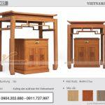 Bàn thờ đứng kích thước 48x89cm cho chung cư nhỏ – Mẫu BTD05