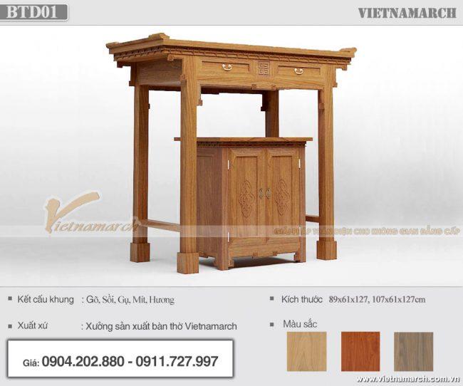 mẫu bàn thờ Quan Công đẹp