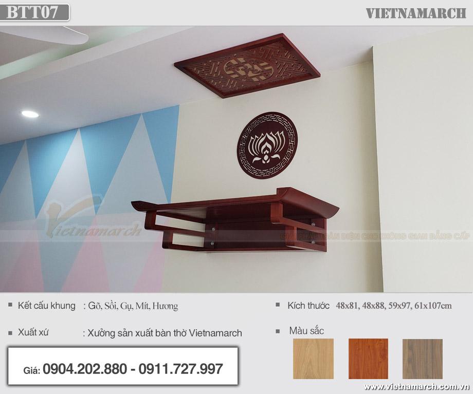 Mẫu bàn thờ treo vietnamarch