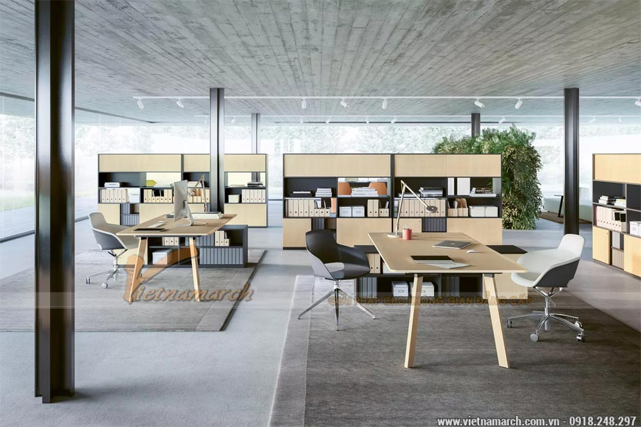 Ứng dụng của gỗ công nghiệp trong thiết kế nội thất văn phòng