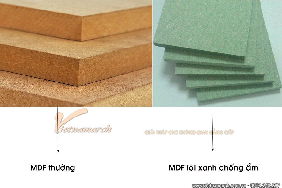 Gỗ công nghiệp MDF trong thiết kế nội thất