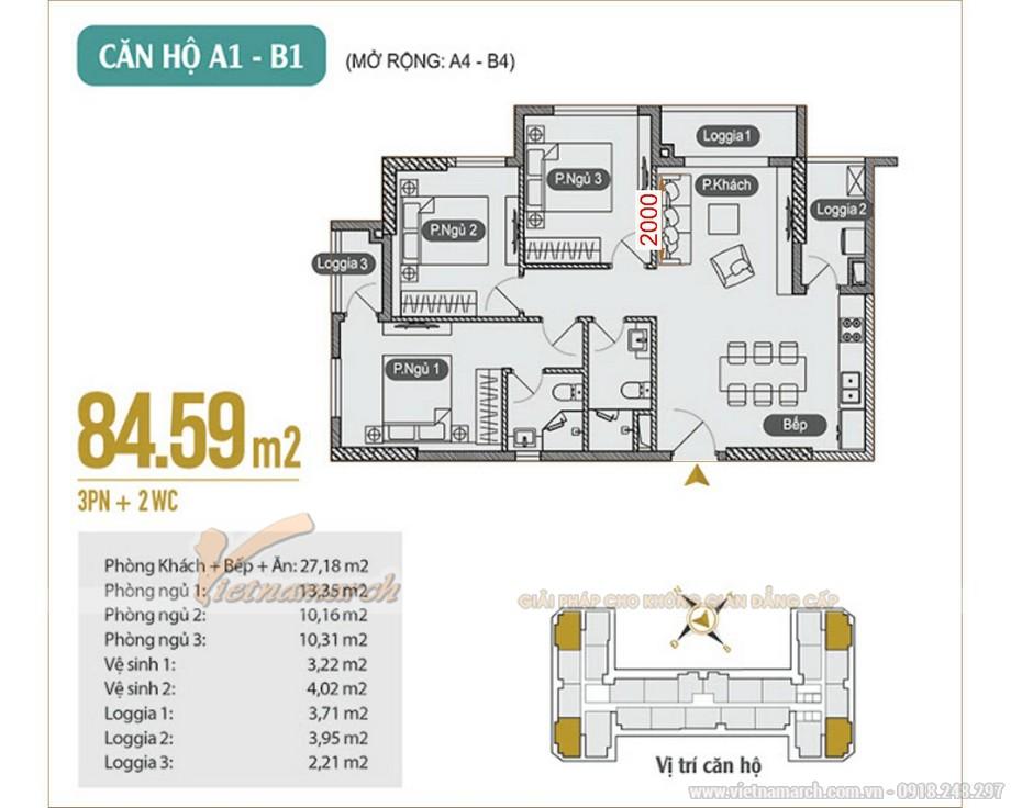 Thiết kế thi công nội thất căn hộ chung cư 3 phòng ngủ Anland Premium