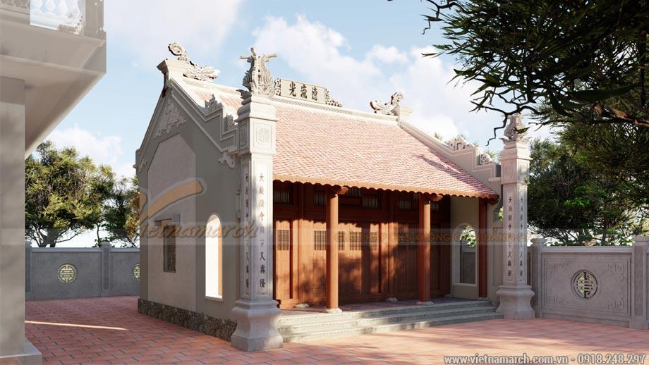 Thiết kế nhà thờ họ có hậu cung
