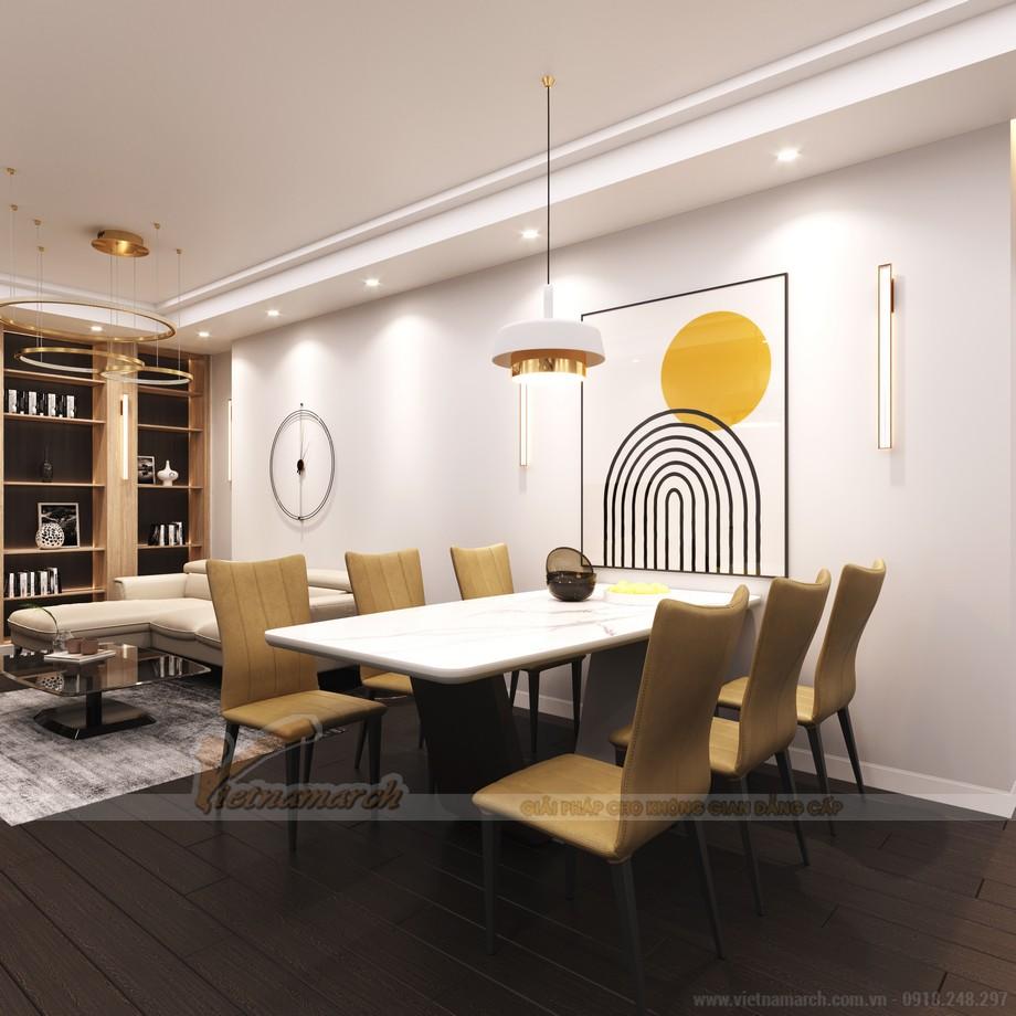 Thiết kế nội thất phòng bếp cho căn hộ chung cư theo phong cách hiện đại