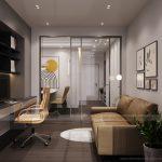 Thiết kế nội thất chung cư 2 phòng ngủ theo phong cách hiện đại