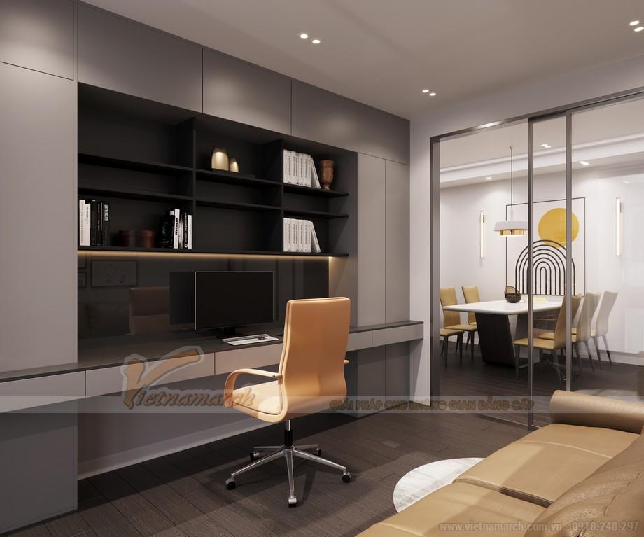 Thiết kế nội thất phòng làm việc cho căn hộ chung cư theo phong cách hiện đại