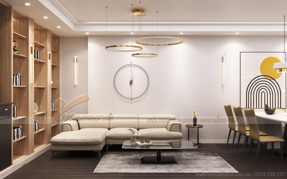 Thiết kế nội thất phòng khách chung cư King Palace theo phong cách hiện đại