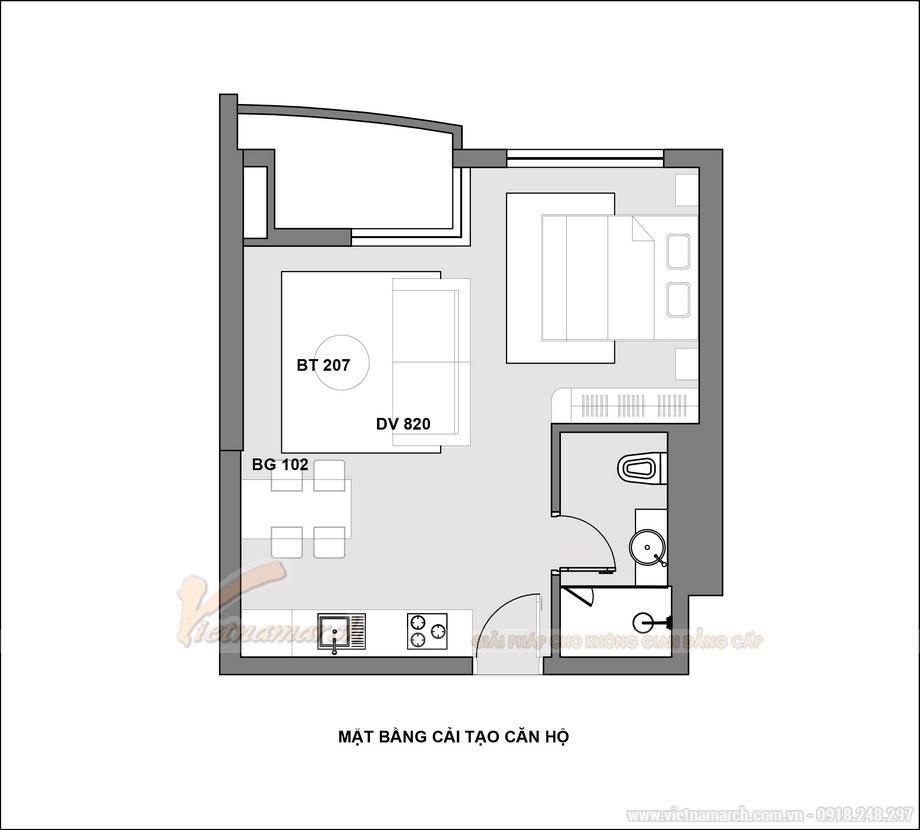 Thiết kế nội thất căn hộ dịch vụ Five Star West Lake đẳng cấp nhất