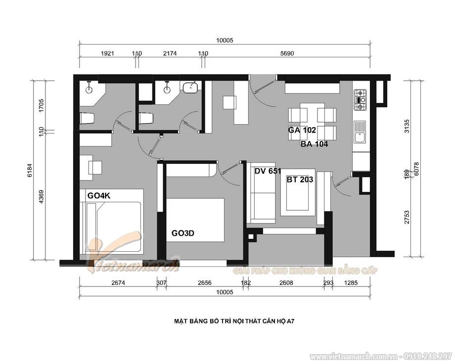 Thiết kế nội thất chung cư Anland Premium 68m2