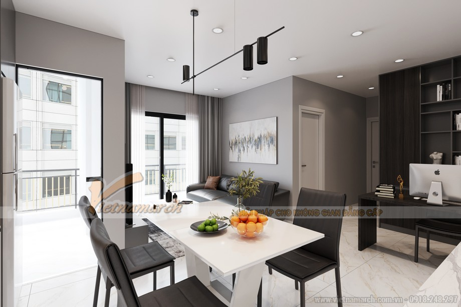 Thiết kế nội thất bếp và phòng ăn