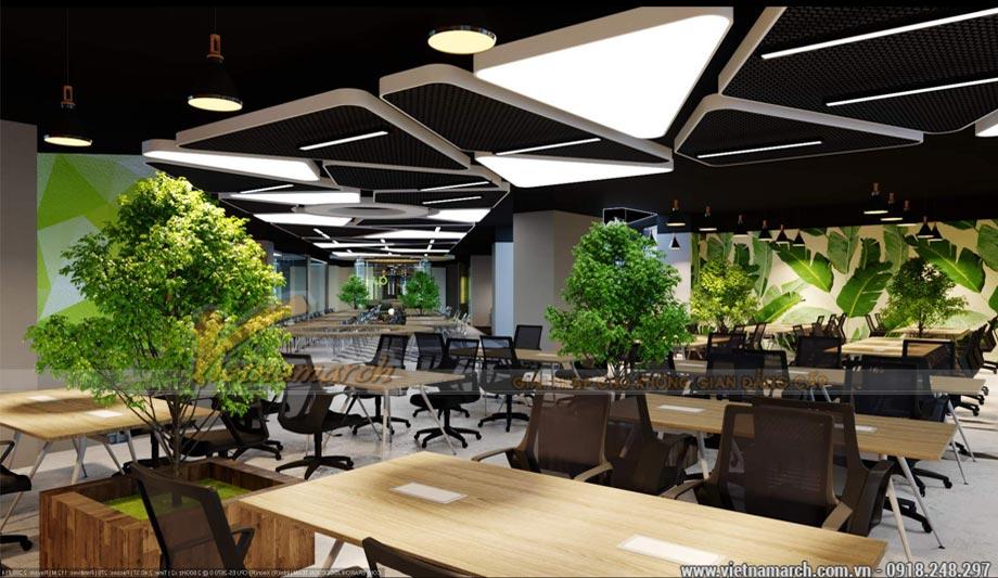 Thiết kế văn phòng 1500m2 tại Hai Bà Trưng