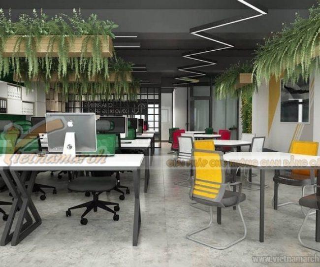 Lựa chọn nội thất gọn nhẹ khi thiết kế văn phòng 70m2