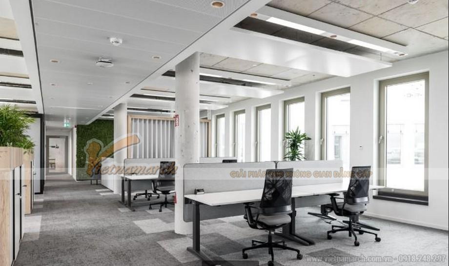 Thiết kế văn phòng theo xu hướng hiện đại sử dụng đồ nội thất tối giản