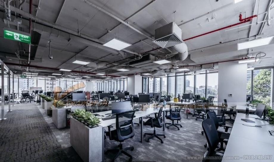 Thiết kế văn phòng theo xu hướng hiện đại không gian mở