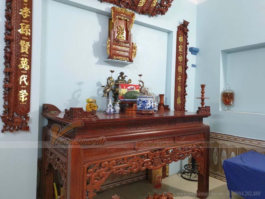 Ý nghĩa tuyệt vời của bộ bàn thờ ngũ phúc kèm cuốn thư câu đối trang trí