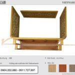 Bàn thờ treo tường gỗ mít 61x107cm dành cho không gian rộng – BTT07