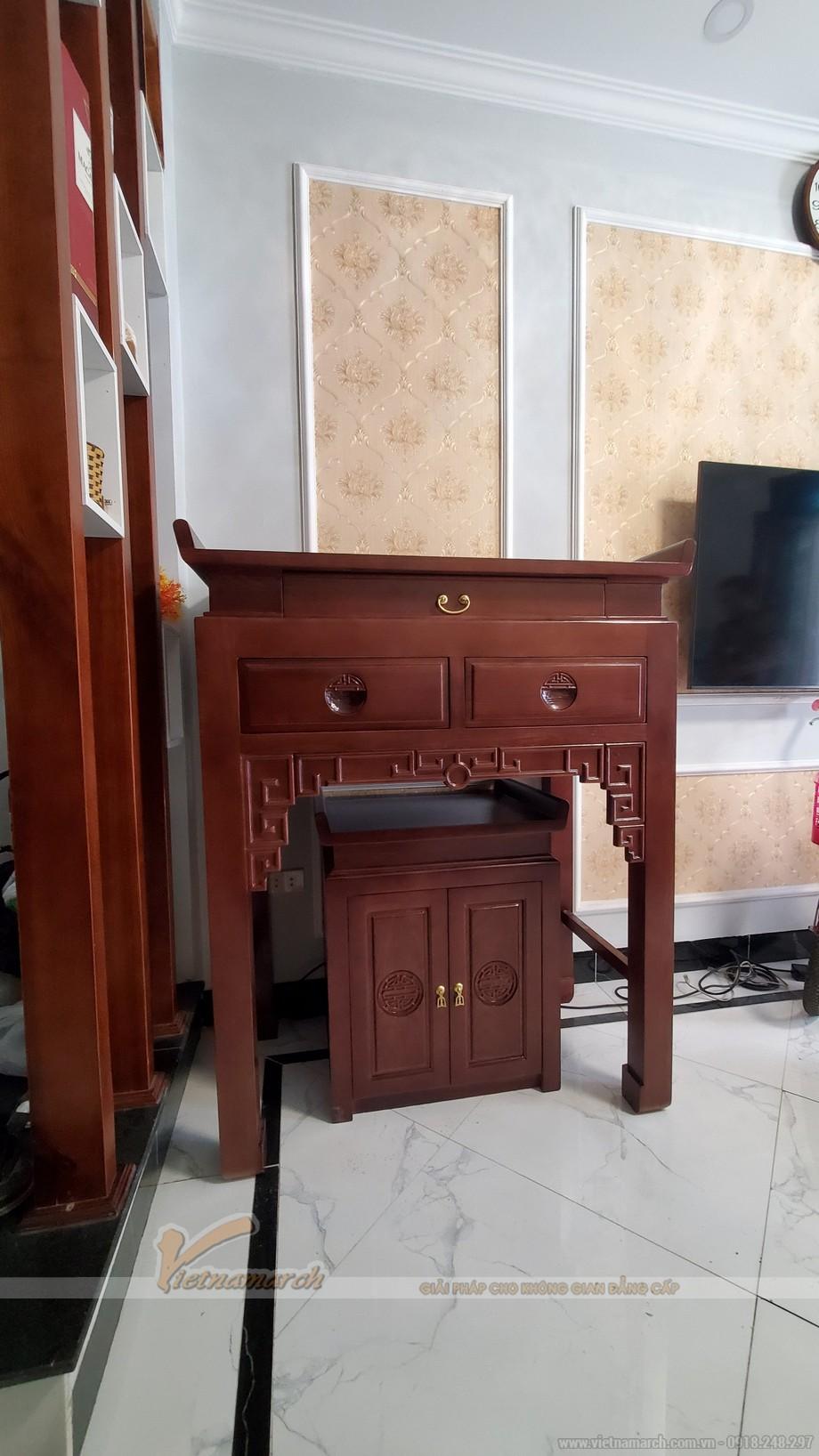 Mẫu bàn thờ đứng gỗ sồi BTD33