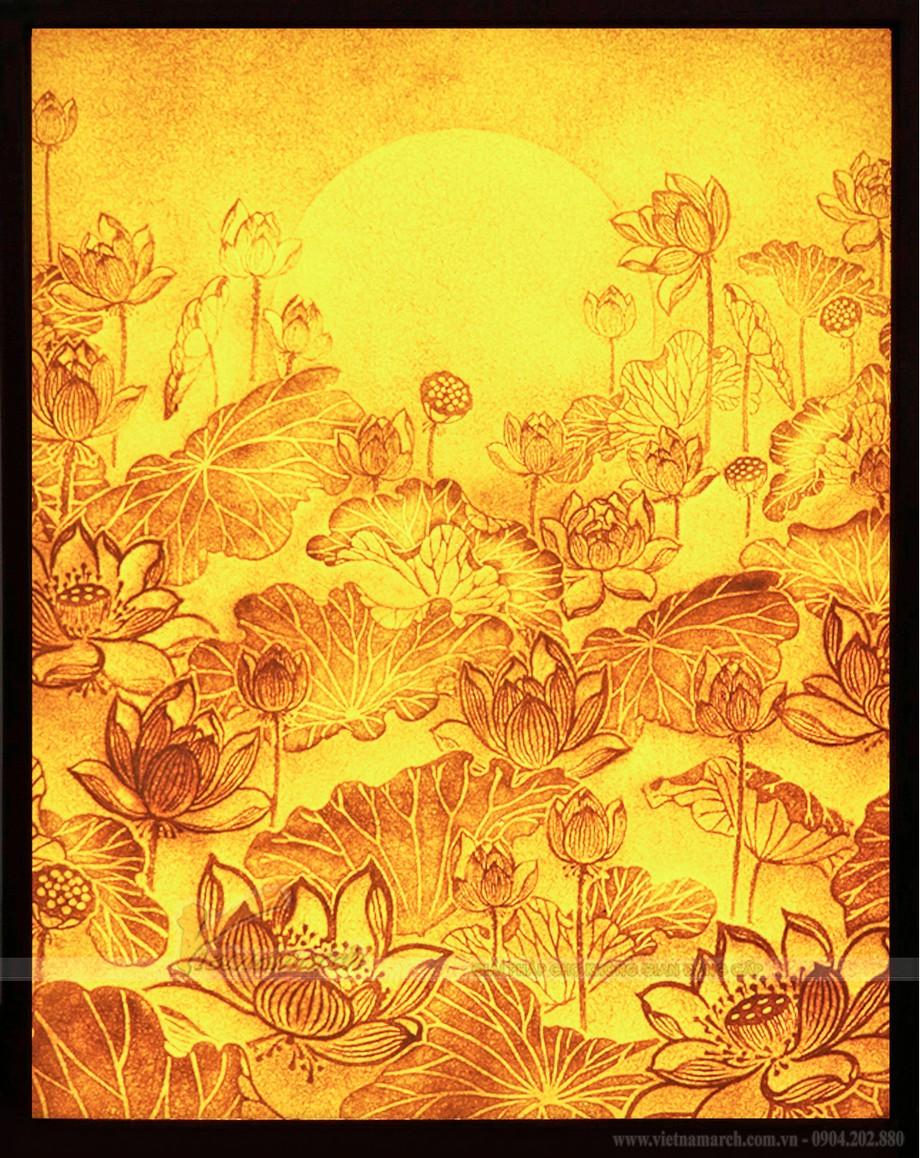 Bộ sưu tập tranh giấy dừa hoa sen mới nhất 2021 tại 61 Nguyễn Xiển