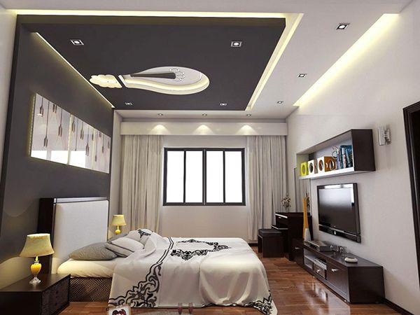 Trần thạch cao phòng ngủ được thiết đơn giản nhưng ấm cúng